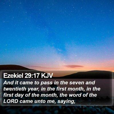 Ezekiel 29:17 KJV Bible Verse Image