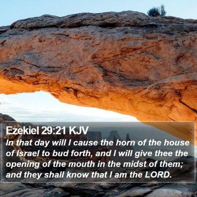 Ezekiel 29:21 KJV Bible Verse Image