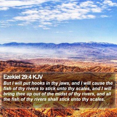 Ezekiel 29:4 KJV Bible Verse Image
