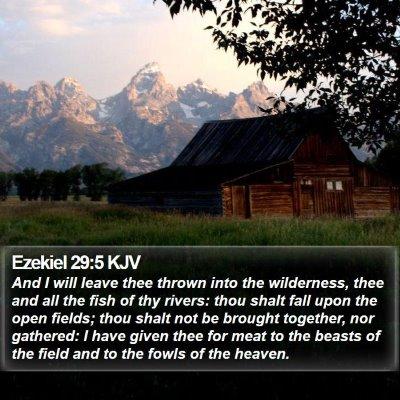 Ezekiel 29:5 KJV Bible Verse Image