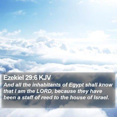 Ezekiel 29:6 KJV Bible Verse Image
