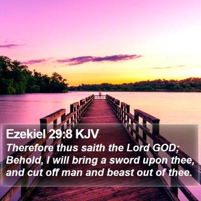 Ezekiel 29:8 KJV Bible Verse Image