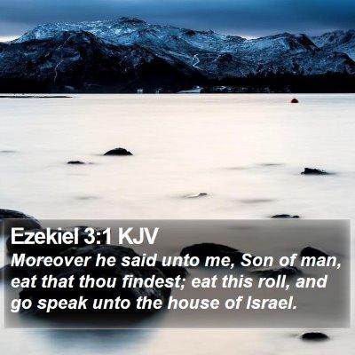 Ezekiel 3:1 KJV Bible Verse Image
