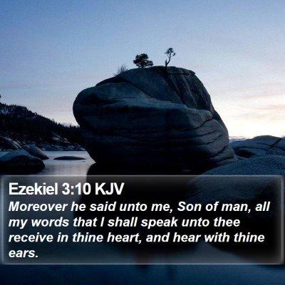 Ezekiel 3:10 KJV Bible Verse Image