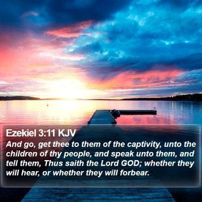 Ezekiel 3:11 KJV Bible Verse Image