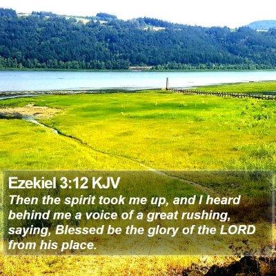 Ezekiel 3:12 KJV Bible Verse Image