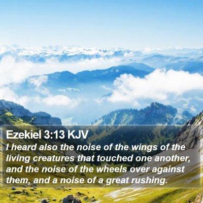 Ezekiel 3:13 KJV Bible Verse Image