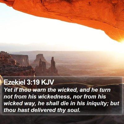 Ezekiel 3:19 KJV Bible Verse Image