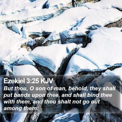 Ezekiel 3:25 KJV Bible Verse Image