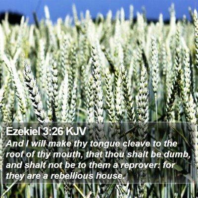 Ezekiel 3:26 KJV Bible Verse Image