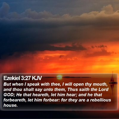 Ezekiel 3:27 KJV Bible Verse Image