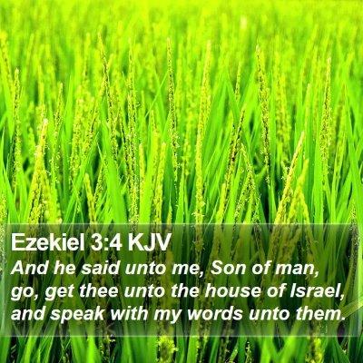 Ezekiel 3:4 KJV Bible Verse Image