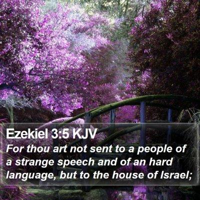 Ezekiel 3:5 KJV Bible Verse Image