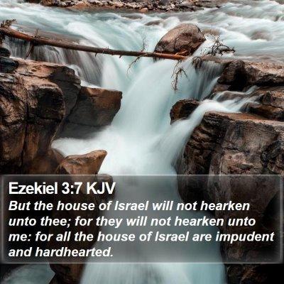 Ezekiel 3:7 KJV Bible Verse Image
