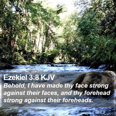 Ezekiel 3:8 KJV Bible Verse Image