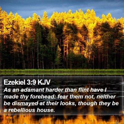 Ezekiel 3:9 KJV Bible Verse Image