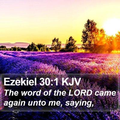 Ezekiel 30:1 KJV Bible Verse Image