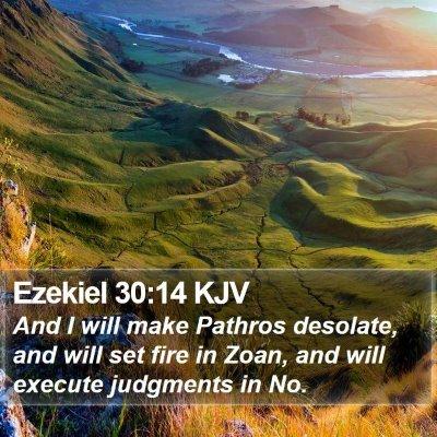 Ezekiel 30:14 KJV Bible Verse Image