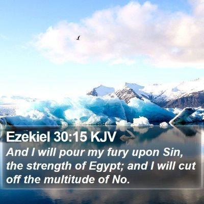 Ezekiel 30:15 KJV Bible Verse Image