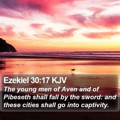 Ezekiel 30:17 KJV Bible Verse Image