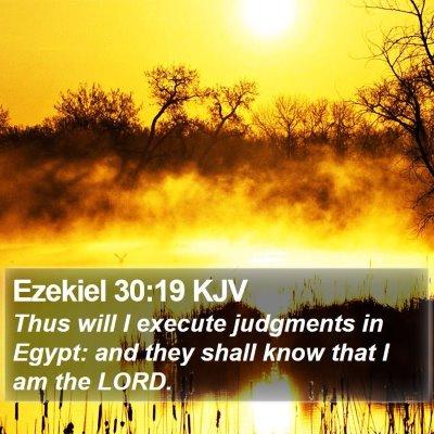 Ezekiel 30:19 KJV Bible Verse Image