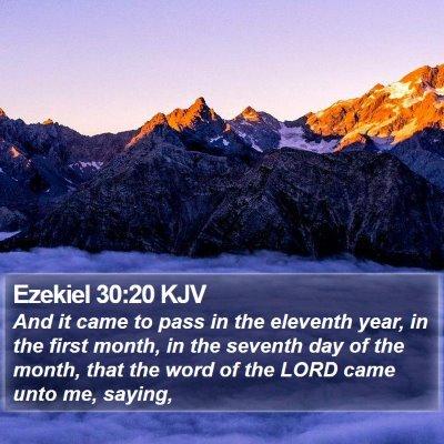 Ezekiel 30:20 KJV Bible Verse Image
