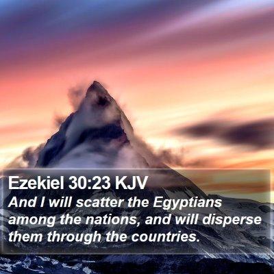 Ezekiel 30:23 KJV Bible Verse Image