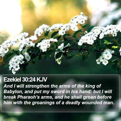 Ezekiel 30:24 KJV Bible Verse Image
