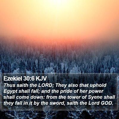 Ezekiel 30:6 KJV Bible Verse Image