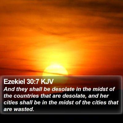 Ezekiel 30:7 KJV Bible Verse Image