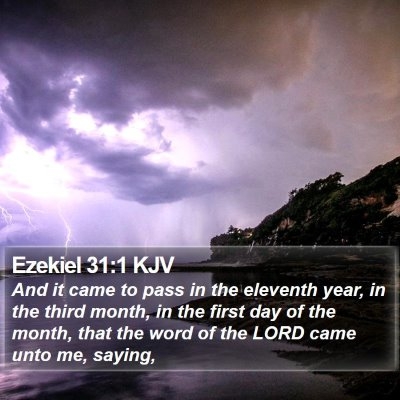Ezekiel 31:1 KJV Bible Verse Image