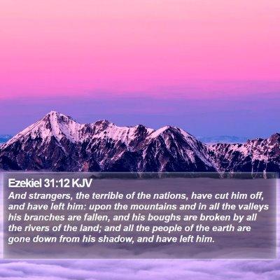 Ezekiel 31:12 KJV Bible Verse Image