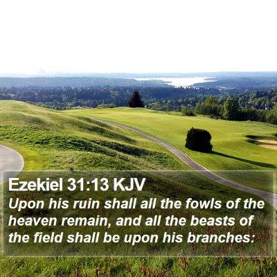 Ezekiel 31:13 KJV Bible Verse Image