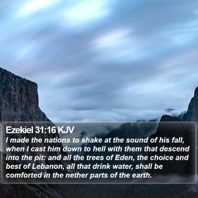 Ezekiel 31:16 KJV Bible Verse Image