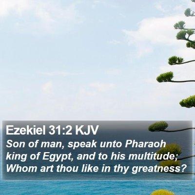 Ezekiel 31:2 KJV Bible Verse Image