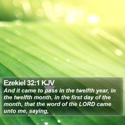 Ezekiel 32:1 KJV Bible Verse Image