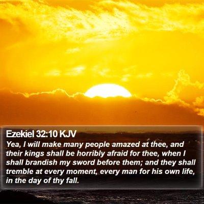 Ezekiel 32:10 KJV Bible Verse Image