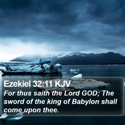 Ezekiel 32:11 KJV Bible Verse Image