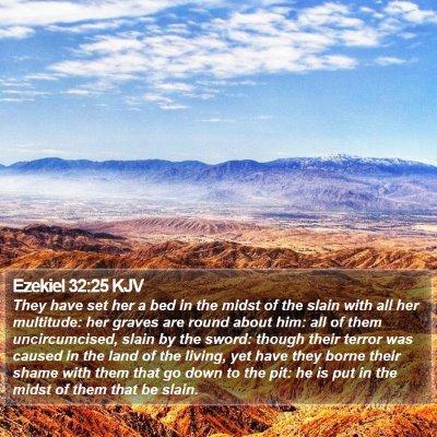 Ezekiel 32:25 KJV Bible Verse Image