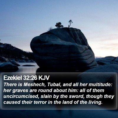 Ezekiel 32:26 KJV Bible Verse Image