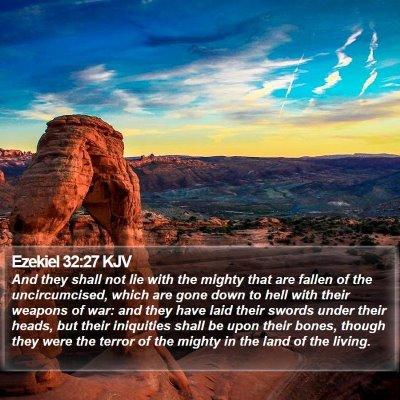 Ezekiel 32:27 KJV Bible Verse Image