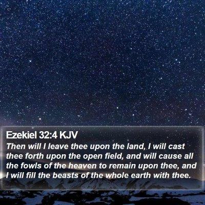 Ezekiel 32:4 KJV Bible Verse Image
