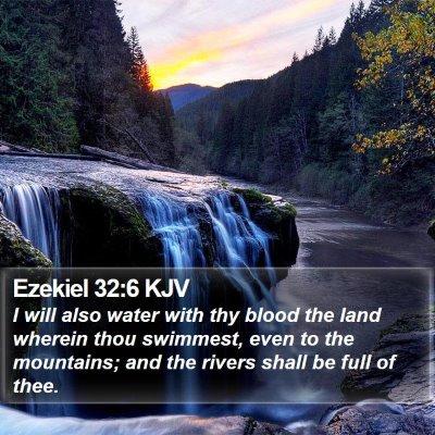 Ezekiel 32:6 KJV Bible Verse Image