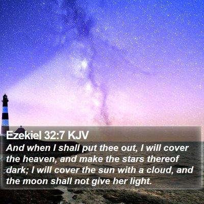 Ezekiel 32:7 KJV Bible Verse Image
