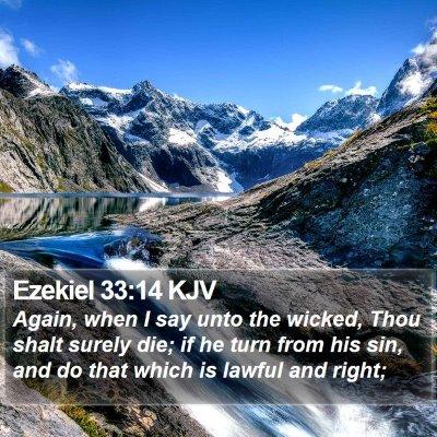 Ezekiel 33:14 KJV Bible Verse Image