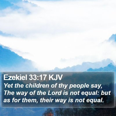Ezekiel 33:17 KJV Bible Verse Image