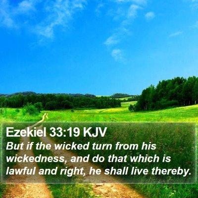 Ezekiel 33:19 KJV Bible Verse Image