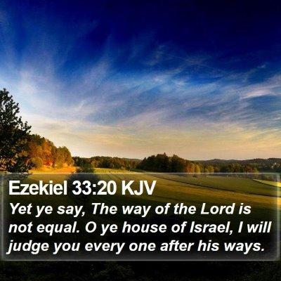 Ezekiel 33:20 KJV Bible Verse Image