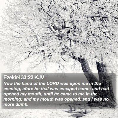 Ezekiel 33:22 KJV Bible Verse Image