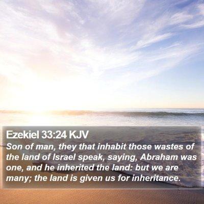 Ezekiel 33:24 KJV Bible Verse Image